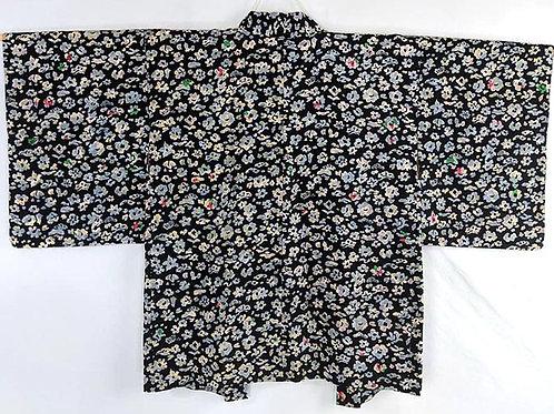 black vintage haori
