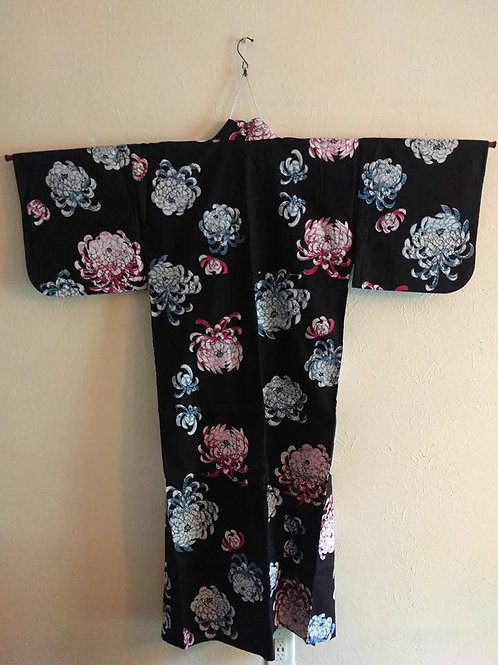 Black Yukata Kimono