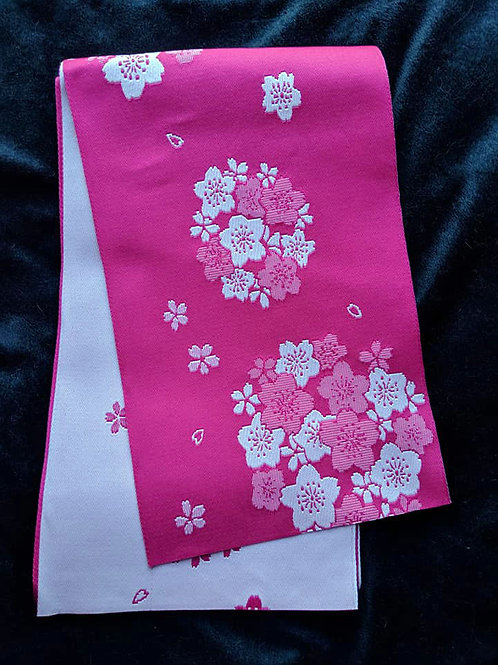 Hot Pink & White Hanhaba Obi