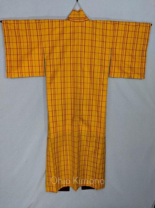 plaid japanese kimono