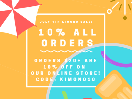 10% Off Orders - July 4th sale!