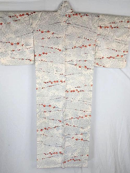 plum blossom japanese kimono