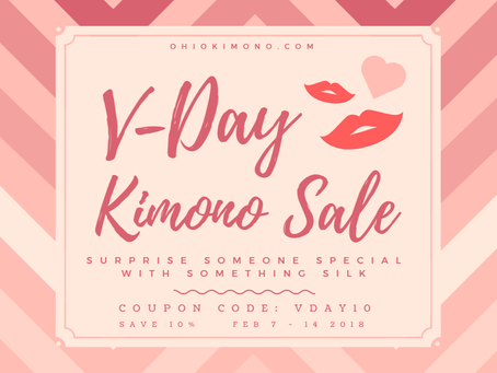 VDay Kimono Sale - Save 10%