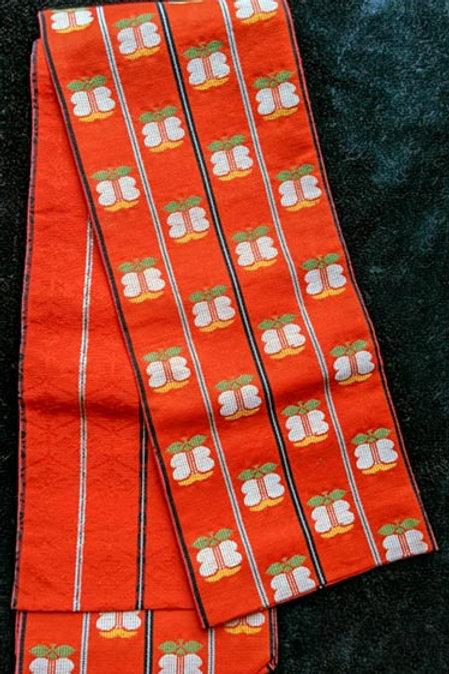 orange obi for yukata kimono