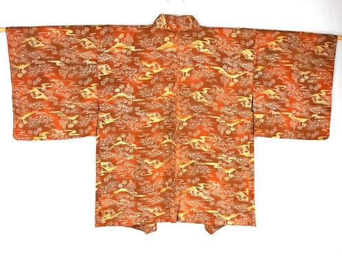 orange and yellow women's haori