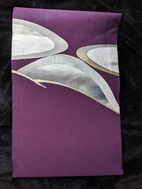 Plum Purple & White Nagoya Obi