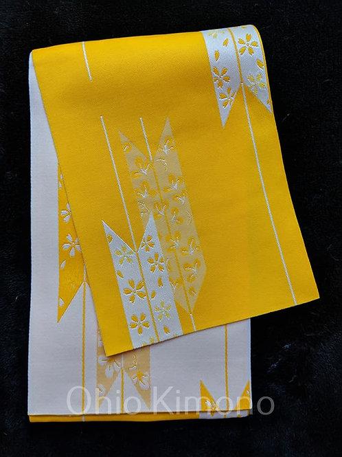 yellow obi for yukata