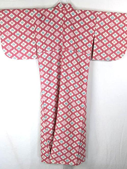 plum blossom pink traditional kimono