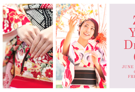 Join us for a free yukata dressing class on Zoom!