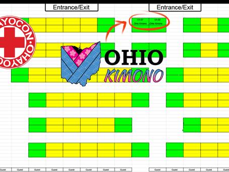Ohio Kimono @ Ohayocon 2018 - Dealer Room MAP