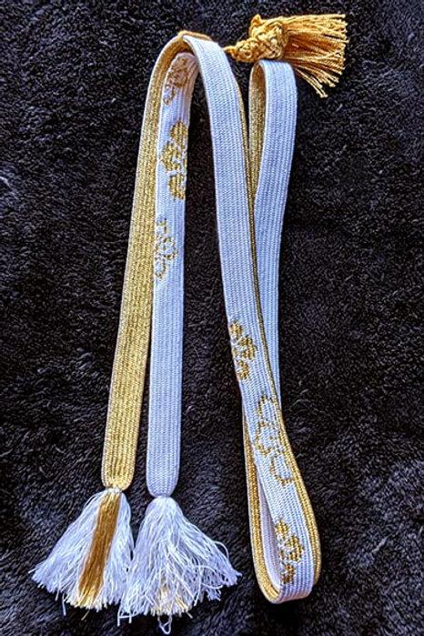 Gold & White Obijime