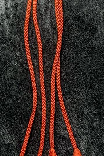 rustic orange obijime cord