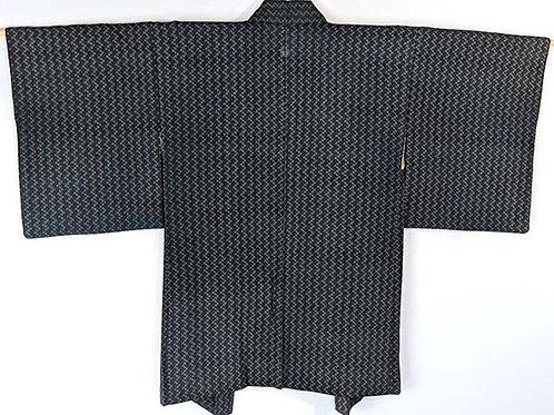 haori blue black japanese
