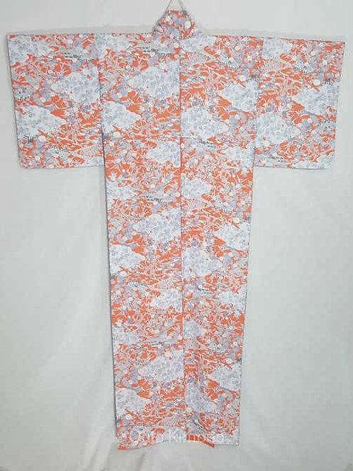 orange vintage authentic kimono