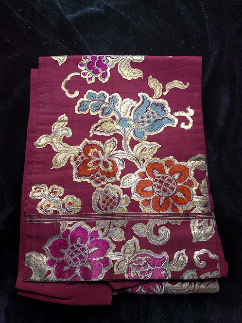 purple nagoya obi for kimono