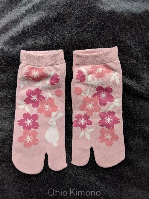 Pink Tabi Socks - Flip Flop Socks