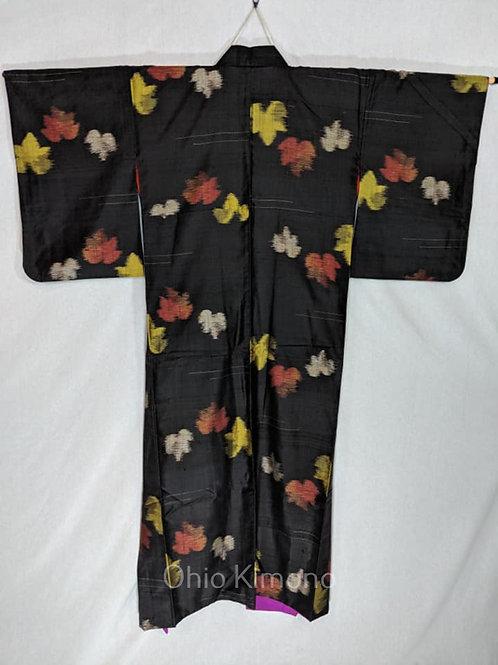 taisho antique meisen japanese kimono