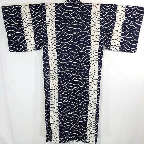 Black & Ocean Blue Yukata