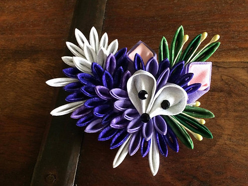 Purple Fox Kanzashi