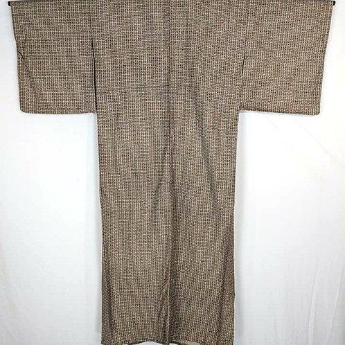 Beige & Green Japanese Kimono