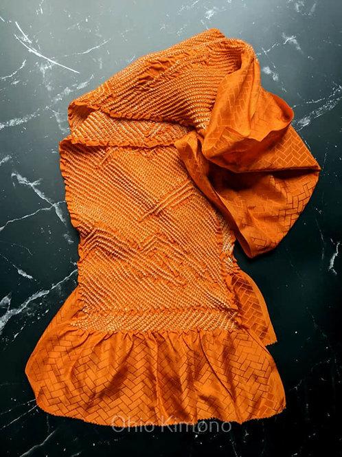 Autumn Orange & White Obiage