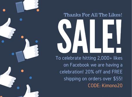 2,000 Facebook Followers Sale!