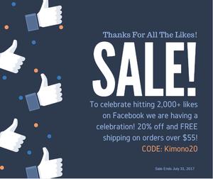Buy Kimono Sale Code