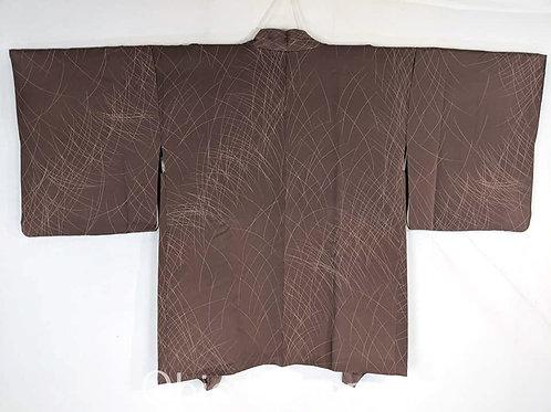brown silk haori