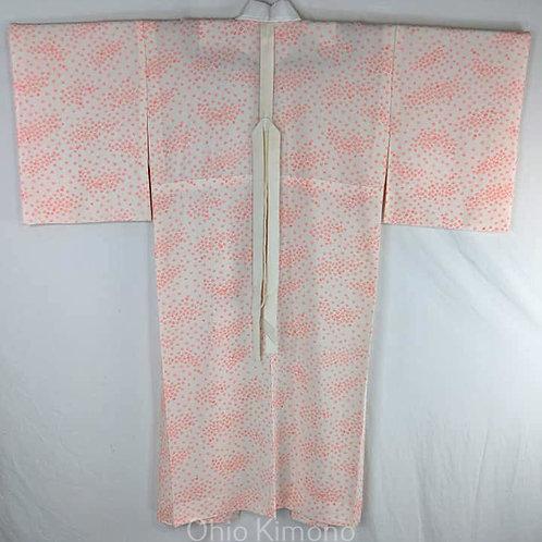Pink & White Silk Juban