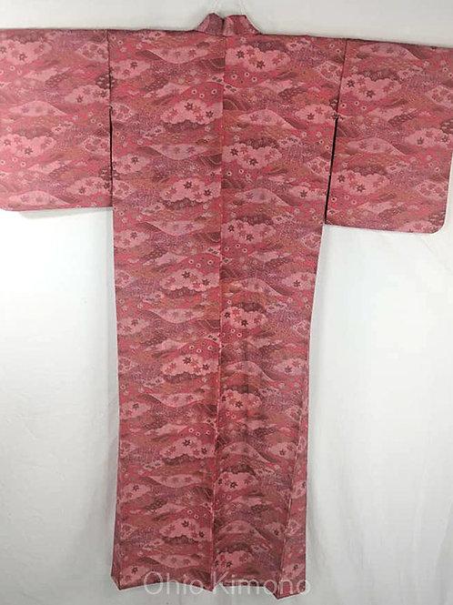 pink yukata kimono