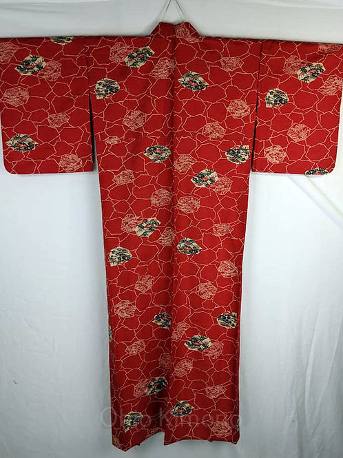 Red & Black Japanese Kimono