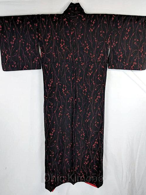 black japanese kimono