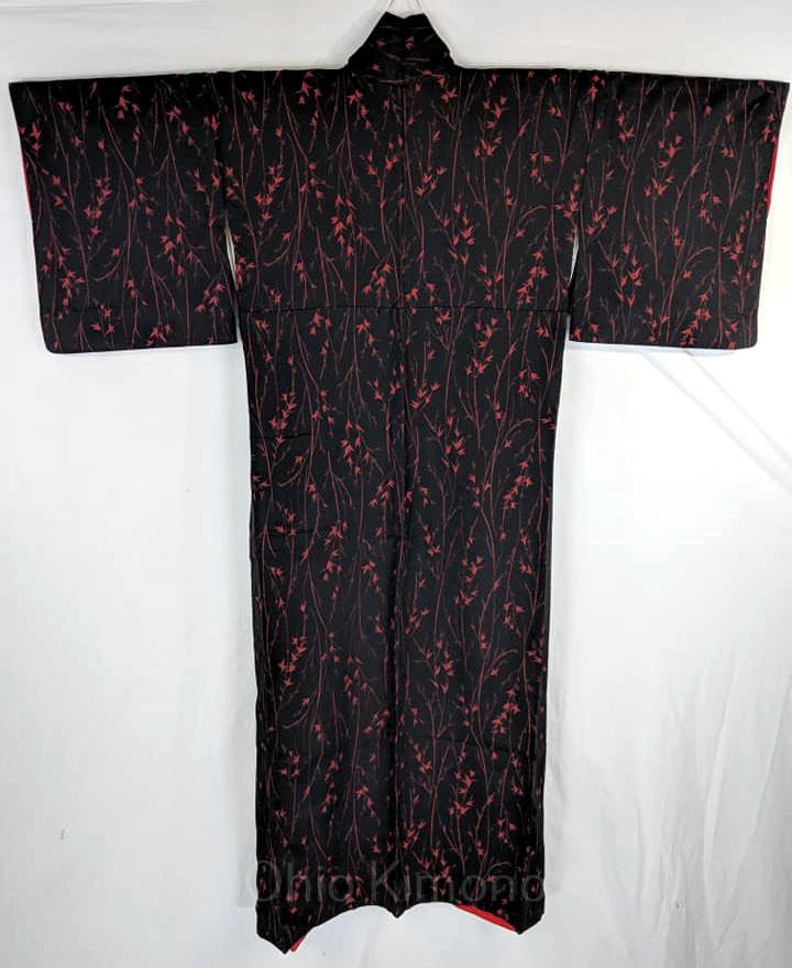 black womens kimono robe