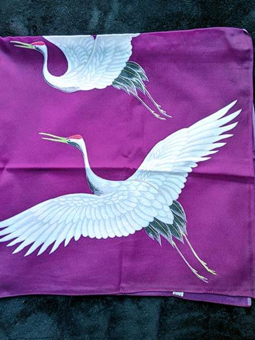 purple crane Furoshiki
