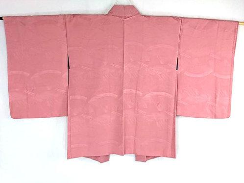 pink silk haori