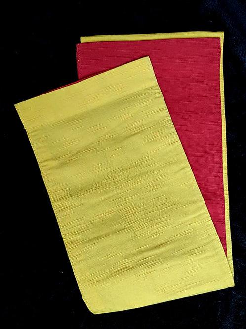 Yellow & Red Hanhaba Obi