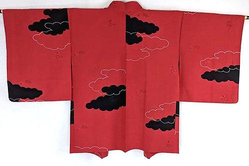 Black & Bold Red Haori