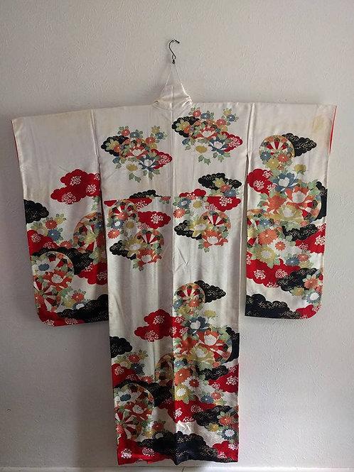 White Furisode Kimono