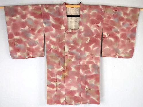 pink michiyuki coat for kimono from Japan