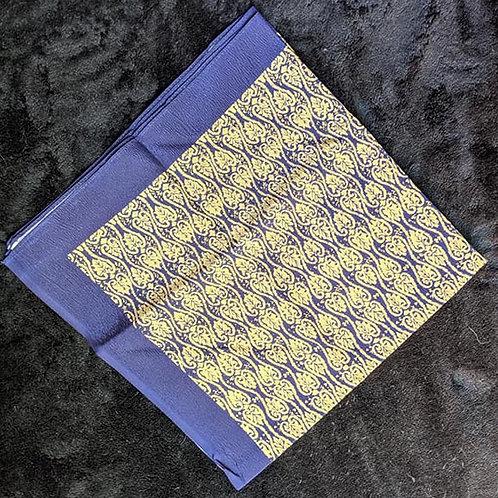 navy blue and golden beige Furoshiki