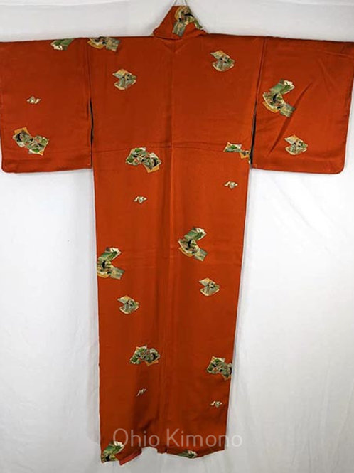 japanese kimono pumpkin orange