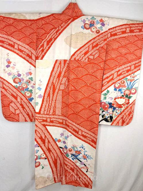 silk furisode shibori
