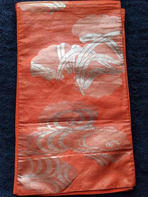 large orange obi for kimono