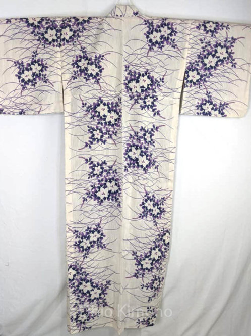 yukata size large flowers