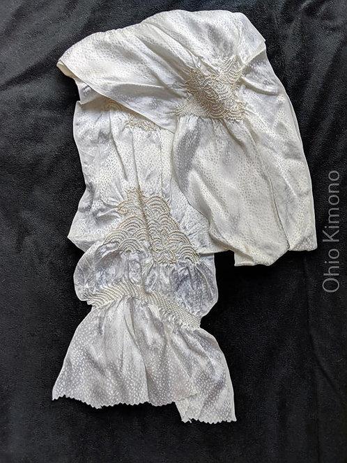 white silk obiage for kimono