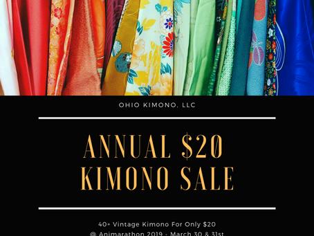$20 Kimono Clearance Sale!