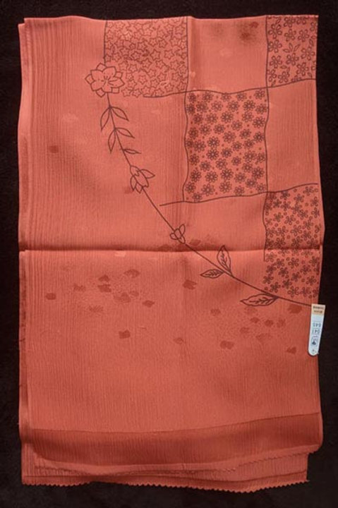 new silk red obiage for kimono