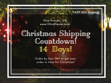 Kimono Christmas Shipping Countdown