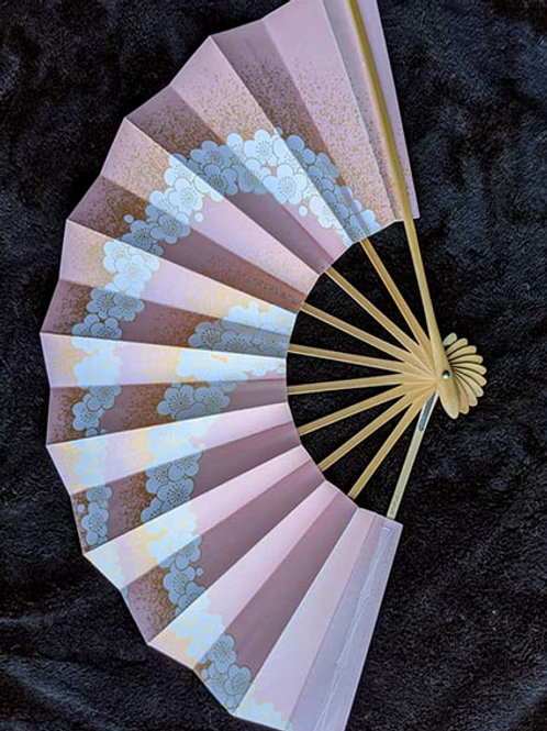 pink and white japanese fan