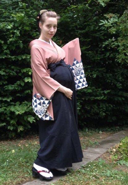 Kimono Worn While Pregnant